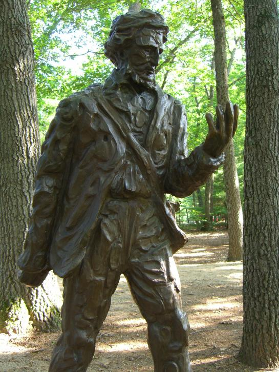 Missing the point: Statues pt.2: More stupid statues – Why does this one of Henry David Thoreau exist? (And actually… hang on, wait. Look at it. He's actually asking the same question.)