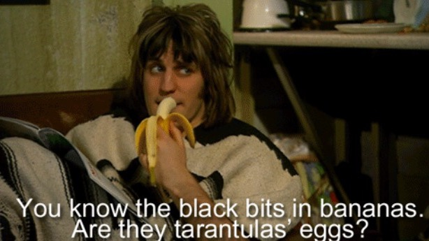 The Philosophy of: Socrates and The Mighty Boosh's Vince Noir – Question everything. Even what the black bits in bananas are.