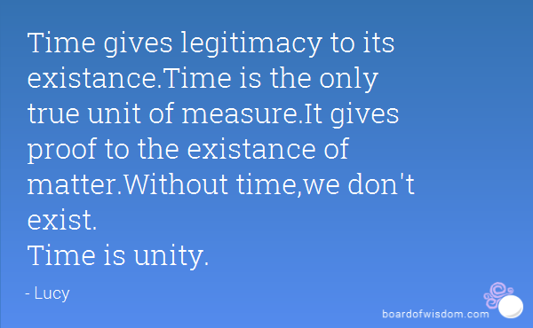 Time is unity  – The Philosophy of Lucy [pt.3]