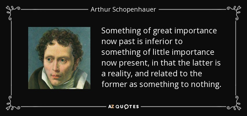 Missing the point? + A Deep Dive into: Time [pt.2] – Schopenhauer's idea that the past, future NOR the present can be enjoyed assumes that the past, present and future are actually things.