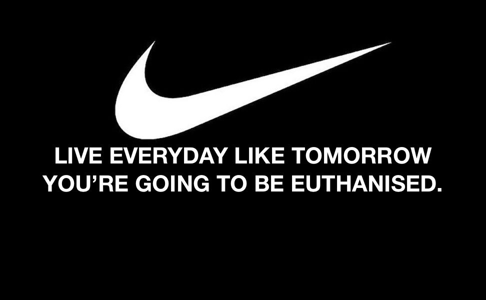 The Nike Slogan that didn't make it.