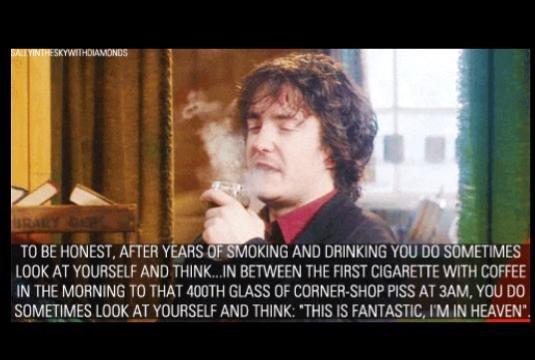 Fuck consequences (?) + The Philosophy of: Bernard Black from Black Books