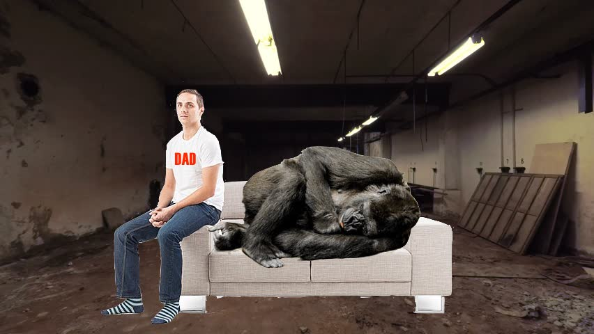 My Say: Oh Man, I Just Knew Today Was Going To Be Shitty As Soon As I Went Downstairs To The Basement First Thing This Morning And Found My Dad Sitting Ominously On A Couch Next To A Bloody, Lifeless Mountain Gorilla He Had Presumably Just Murdered (by Edwin Murray)