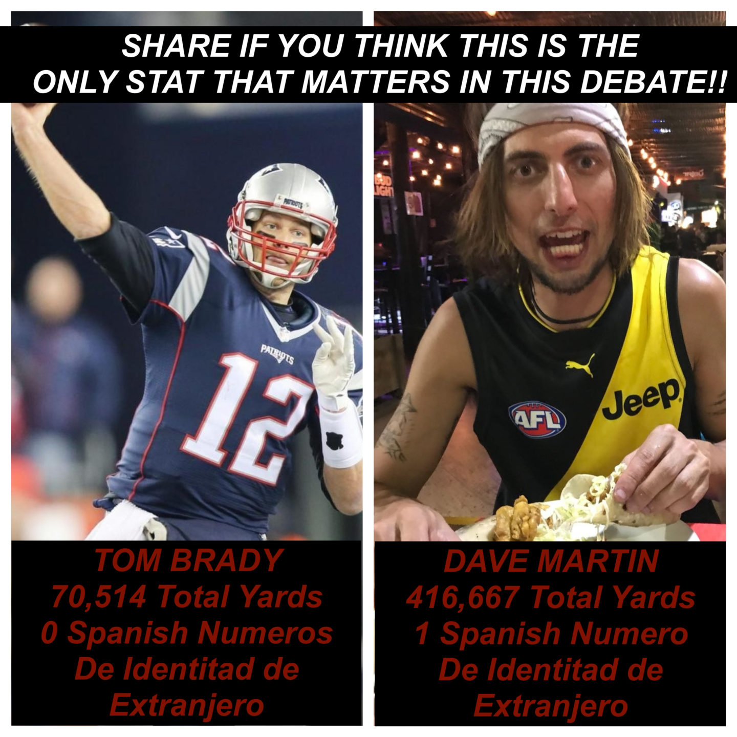 Tom Brady vs. Me – The Debate Is Settled