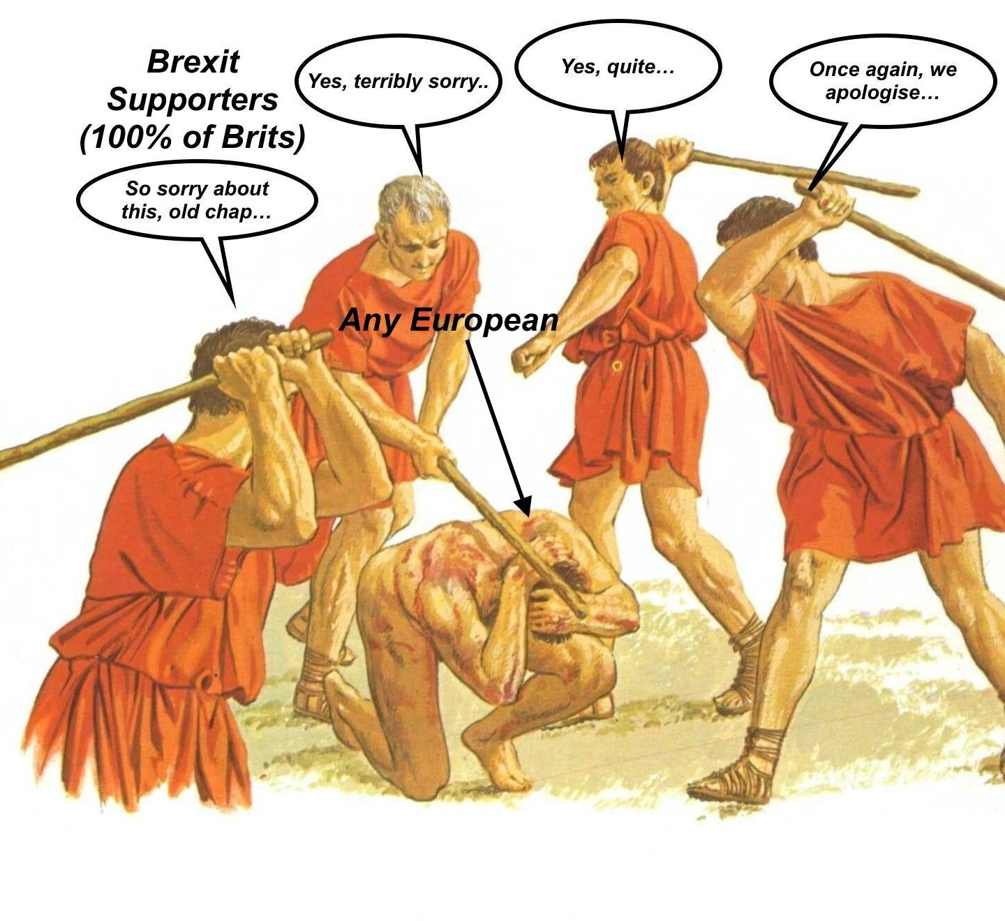 We Were Wrong: 100% Of All Brits Are Actually Like THIS Towards All Europeans Now