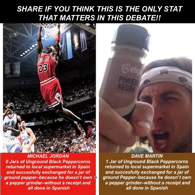 WHO'S THE GOAT? – The Debate is Finally Settled: Me Vs. Michael Jordan