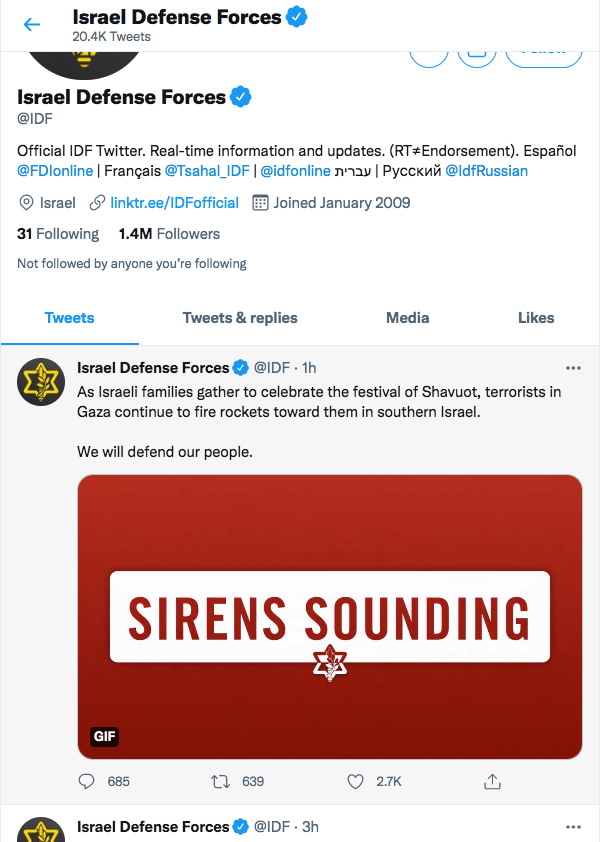 International Community Condemns Israel for its Defense Force's Relentlessly Tight Twitter Game