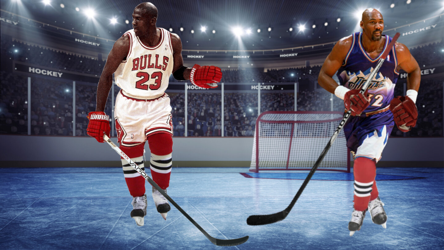 What's Your Take? How Many Rings Would Karl Malone Have Won If He And Michael Jordan Had Played on the Same NHL Team?