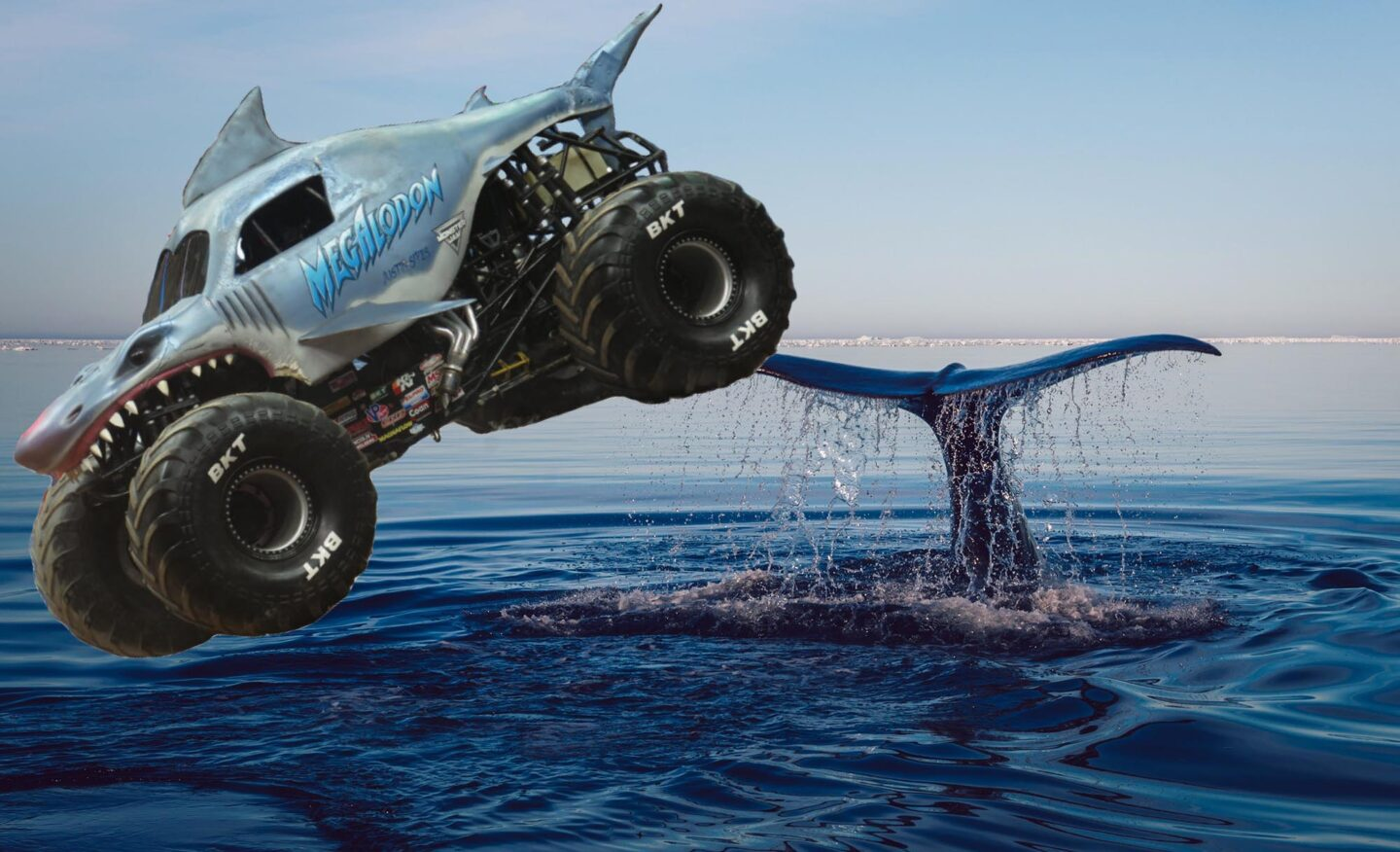 You Got a Better Idea?: Use These Sliders To See 5 Monster Trucks In The Ocean Because I Need To Publish Something Every Day and Whatever, Who Gives A Fuck, This'll Do For Today