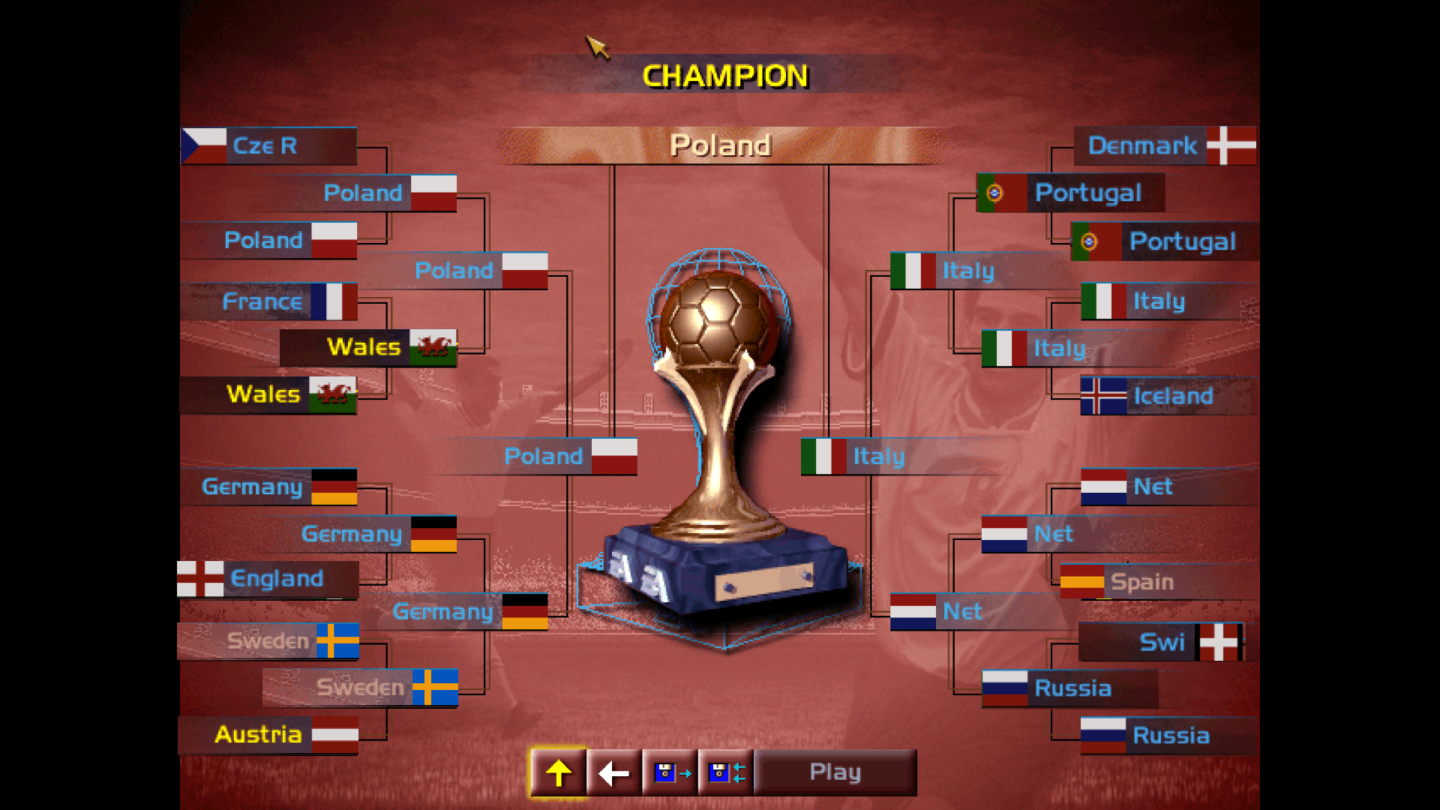 You Wouldn't Believe It But They've Done it: Poland Defeat Italy 4-3 to Become the New FIFA 96 European Champions!