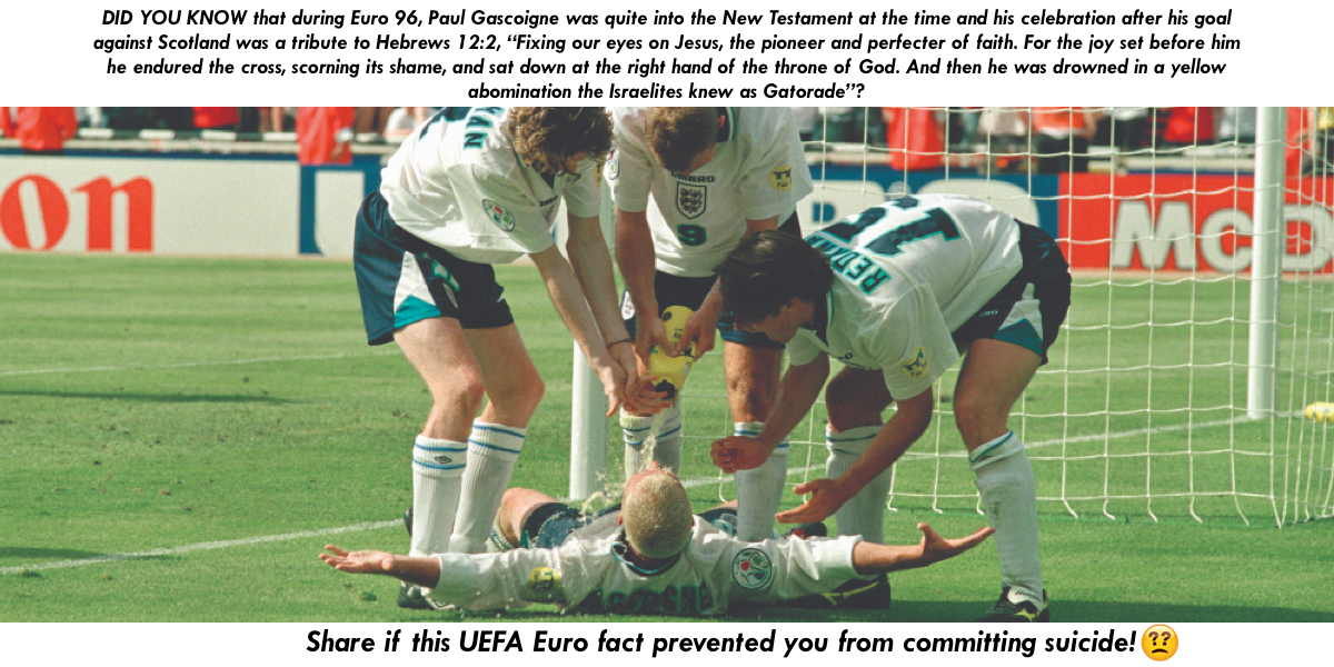 It's a Rest Day at UEFA Euro 2020 But Maybe This Euro Fact Will Stop You from Committing Suicide? Share If It Does!