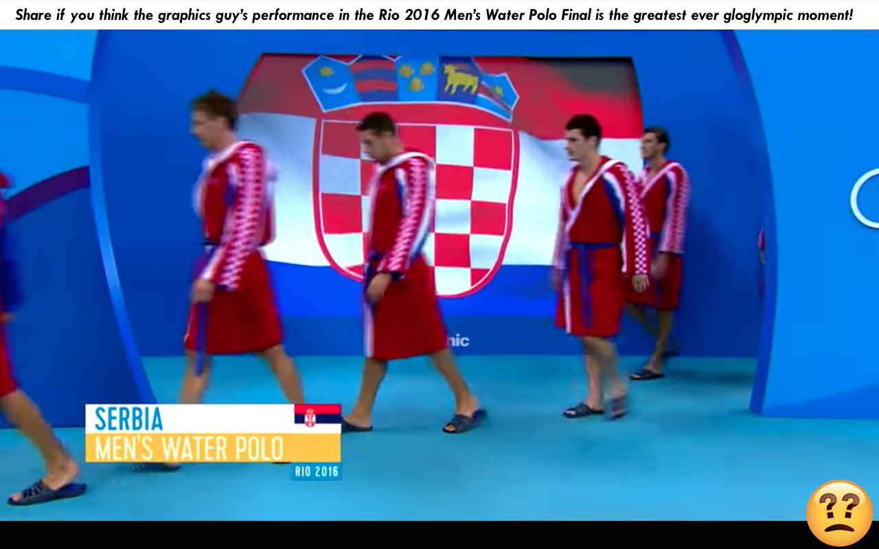 Great Gloglympic Moments of Momentous Gloglympic Greatness – The Graphics Guy in the Rio 2016 Men's Water Polo Final
